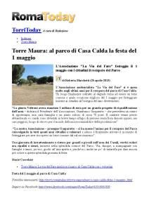 Articolo ROMAToday-Parco Casa Calda festa 1 Mag _26 apr 13_