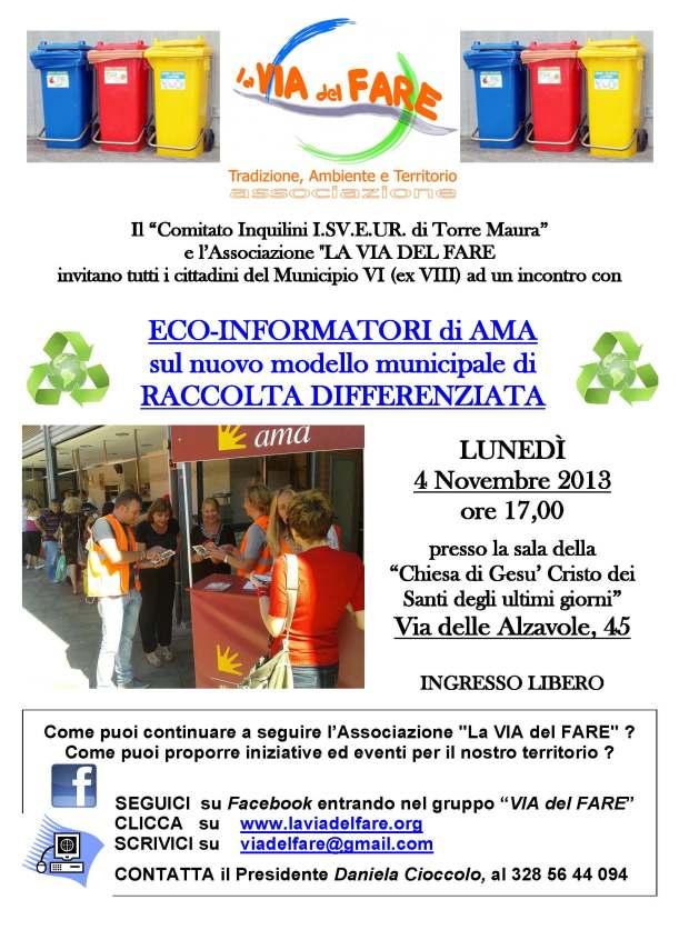 Locandina incontro NUOVA RD mun.VI con ISVEUR (4 nov 2013)