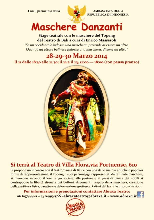 Teatro ABRAXA _Stage danza BaliTopeng-Locan (28-30 mar 2014)