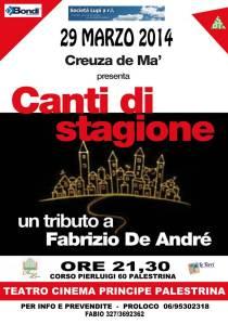 Zaccaria De Andrè concerto 29 mar 2014