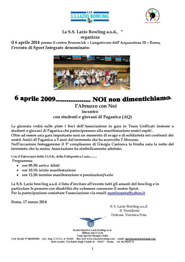 SS Lazio Bowling asd (6 aprile 14)_Pagina_1