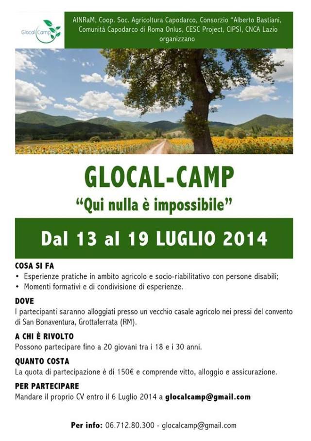 locandina glocal camp